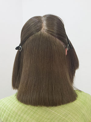 ヘアカラーで傷んだくせ毛の縮毛矯正