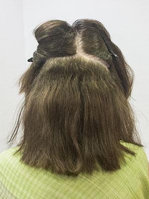頻繁な白髪染めで傷んだくせ毛