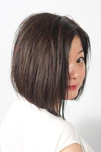40代からの大人女性のヘアスタイル|アラフィフの前下がりボブの髪型