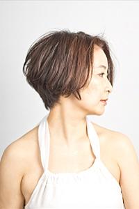 40代の髪型グラデーションボブ3