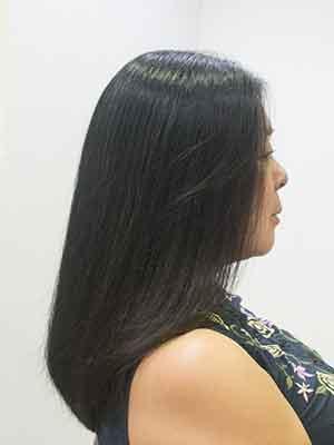 髪の多いくせ毛の縮毛矯正アフター
