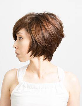 40代の髪型ショート1