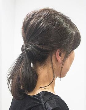 40代髪型 簡単ヘアアレンジ ポニーテール