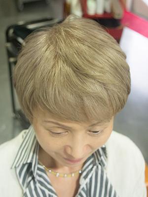 欧米人風白髪染めアフター
