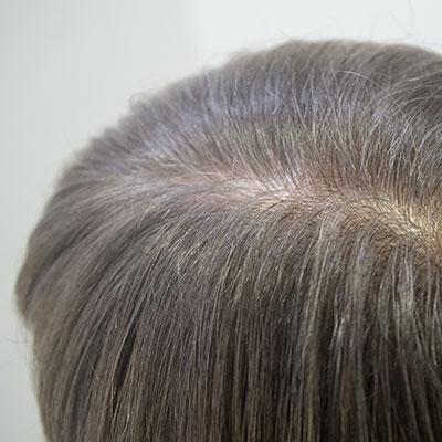 透明感のある白髪染めグレイ