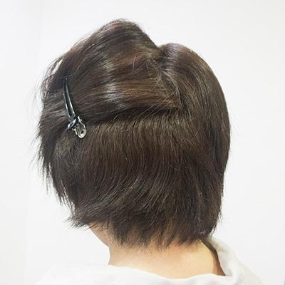 多い髪の縮毛矯正1