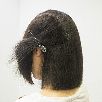 縮毛矯正毛先のパサつき2