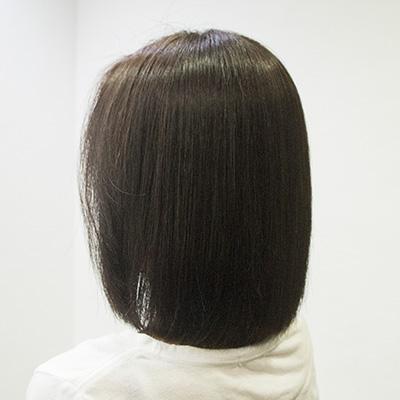 くせ毛のボブの縮毛矯正毛先のトリートメント