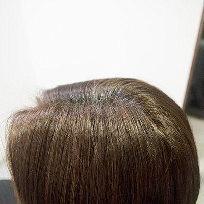 白髪3割の明るい白髪染め1