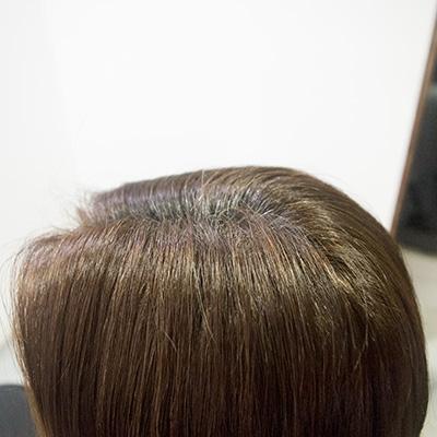 明るい白髪染めがオススメの東京の美容室ビフォア根元