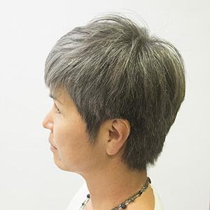 東京の美容室が発信するオシャレ白髪ぼかしアフター1
