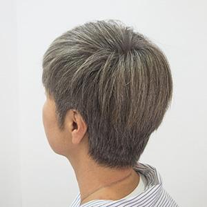 東京の美容室が発信するオシャレ白髪ぼかし2ヶ月後アフター1