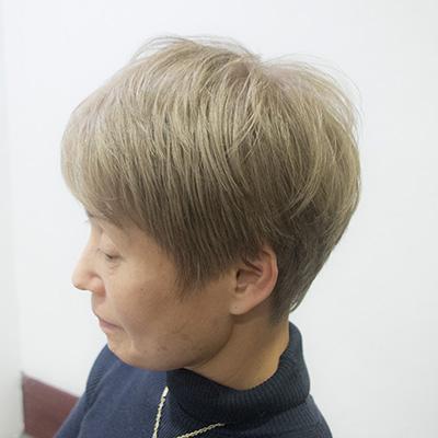 白髪を活かした白髪染めを推奨する東京の美容室アフター