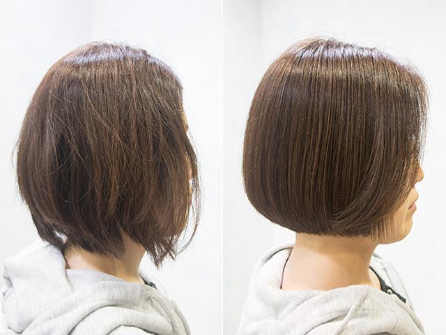 髪に潤いを与える東京の美容院のトリートメント