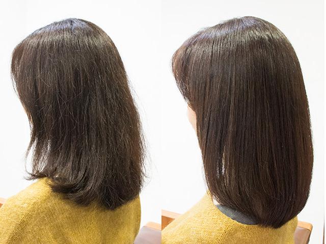 東京原宿の美容室の乾燥して傷んでる髪の方のためへのトリートメント