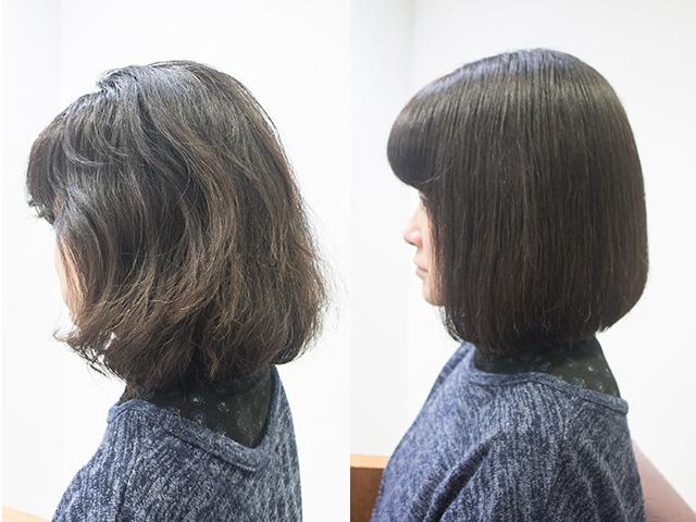 くせ毛がブローしやすくなる東京の美容室のトリートメント