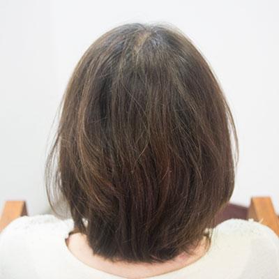 ヘナで髪がしっかりした実例ビフォア