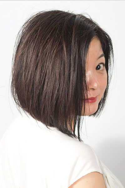 40代からの大人の女性に人気のヘアスタイル|上品な前下がりボブの髪型