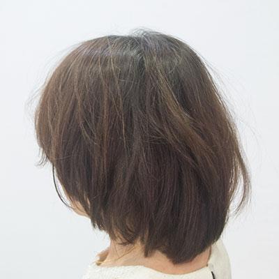 ヘナで髪にハリが出た実例ビフォア