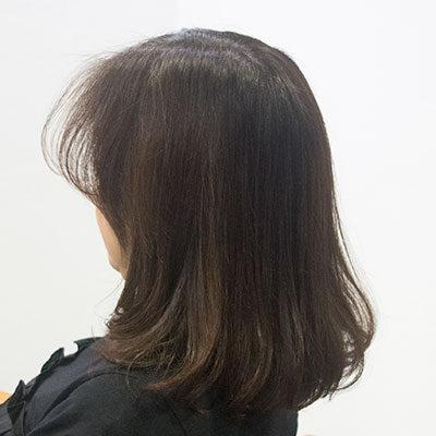 UVトリートメントした髪の毛