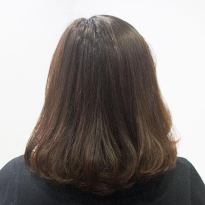 UVカットトリートメントを施した髪