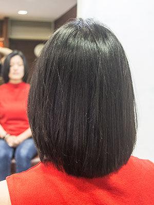 くせ毛をボリュームダウンストレートパーマで程よく内巻きに
