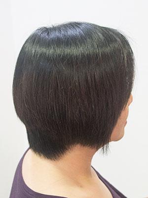 太い毛のくせ毛をボリュームダウンストレートパーマした髪型by美容室yippee東京