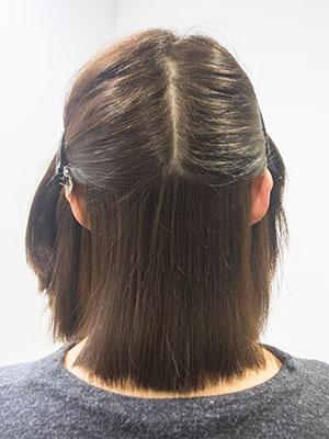 白髪染めのくせ毛をナチュラル縮毛矯正する東京の美容室yippee