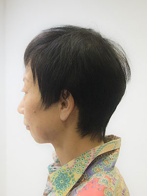 細いくせ毛にストレートパーマした髪型by美容室yippee東京