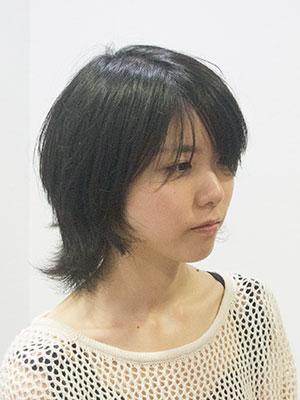 夏の髪型パーマヘアスタイルパーマヘアスタイル|ビフォア