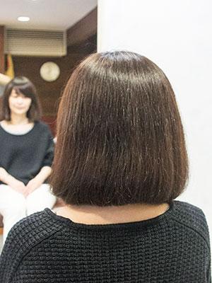 くせ毛で広がるボブ ビフォー画像