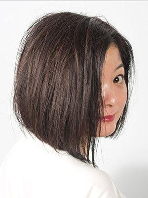 代からの女性に人気のヘアスタイル|上品な前下がりボブ