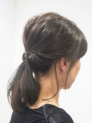 40代50代女性に人気の若々しいヘアアレンジ簡単ポニーテール