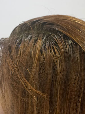 40代の暗い白髪染めを明るくする根元を明るく