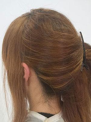 40代の暗い白髪染めを明るくするハイライト効果