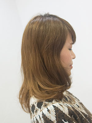 冬にバッサリ髪を切る理由ビフォー