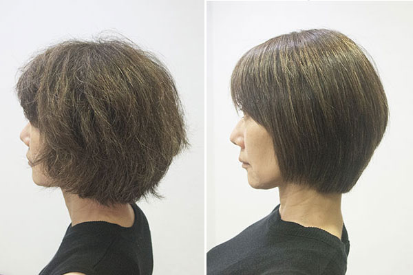 入学式ママの髪型ショートの縮毛矯正
