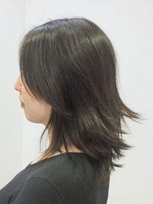 卒園式前バサバサの髪