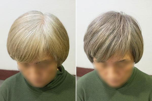欧米人風白髪染めカラーグレイヘア
