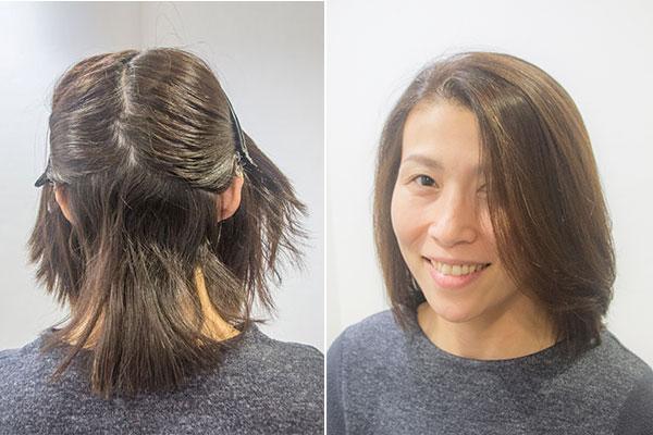 卒業式ママの髪型縮毛矯正美人