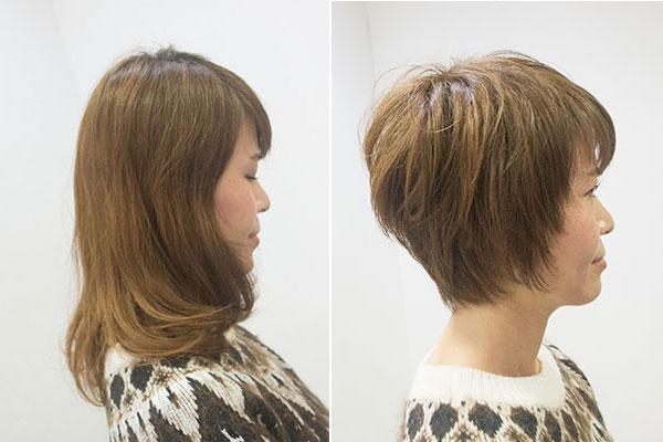 入学式ままの髪型ショート