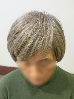 欧米人風白髪染めカラーアフター