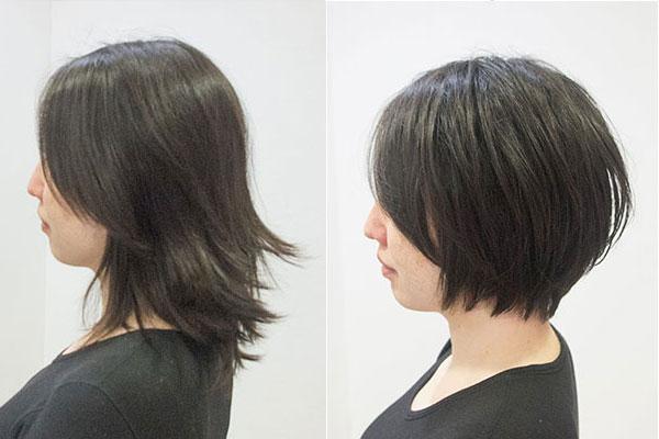 卒業式入学式前に母の髪型を整える