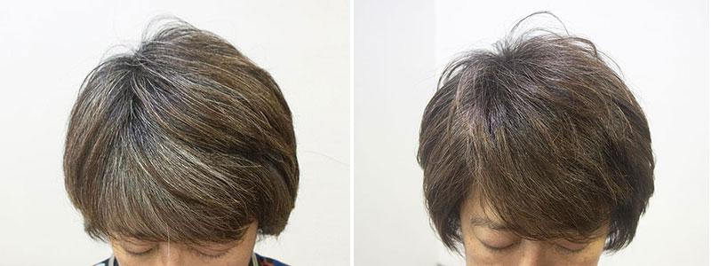 白髪30%の低刺激ヘアカラー