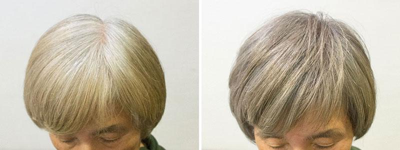 白髪80%の低刺激ヘアカラー