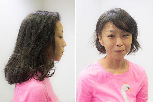 暑い夏に髪をバッサリ切る