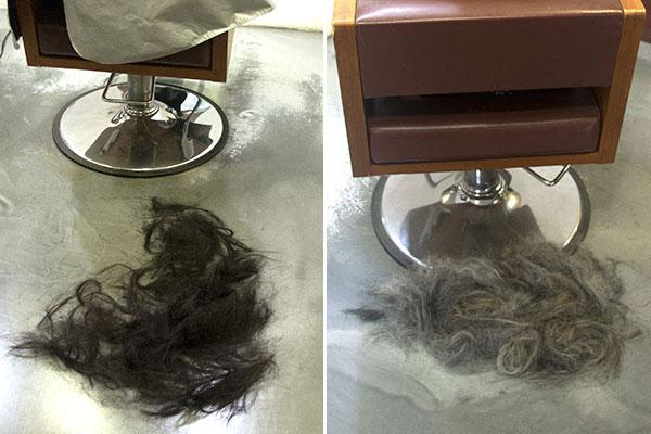 ョートカットに髪をバッサリ切るのが得意な美容室