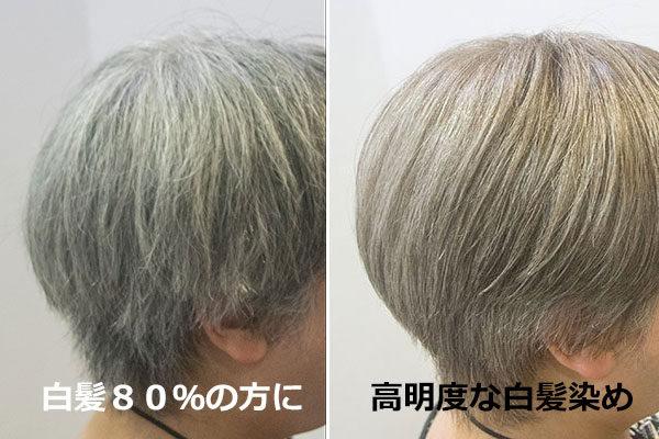 白髪80%のおしゃれグレイヘアカラー