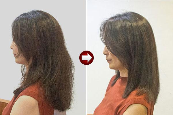アフターコロナは髪の多いくせ毛を縮毛矯正