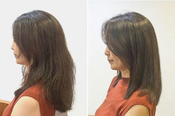 太くて髪の多いくせ毛を縮毛矯正でボリュームダウン